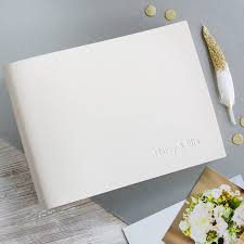 small photo album personalised leather wedding album by begolden