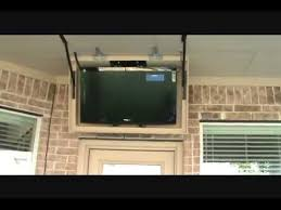 Motorized Ceiling Mount Tv by Retractable Tv Mount Youtube