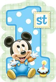 mickey mouse 1st birthday mickey mouse 1st birthday invitations w envelopes 8ct