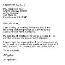 resignation letter exle of resignation letter to employer