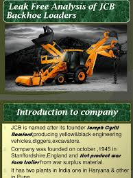 jcb presentation loader equipment valve