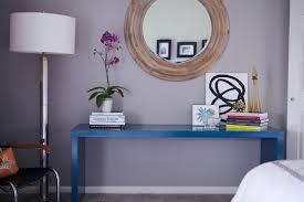 Blue Console Table Peacock Blue Table Contemporary Bedroom Contreras
