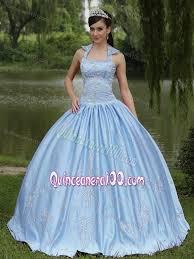 baby blue quinceanera dresses gown halter light blue quinceanera dress with appliques