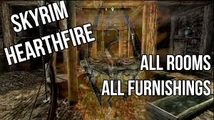 skyrim hearthfire all rooms and furnishings complete youtube