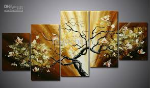 home decor wall hangings 2018 oil painting canva flower landscape modern home decoration