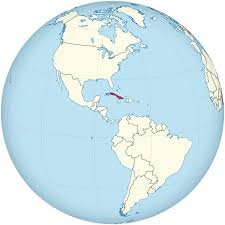 Cuba On A World Map File Cuba On The Globe Americas Centered Svg Wikimedia Commons