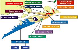 galveston island map galveston island estate
