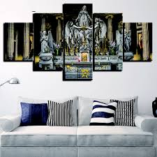 HD Printed Modern Painting Canvas 5 Panel Jesus Christian
