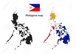History Of The Filipino Flag Philippine Map Philippine Flag Vector Royalty Free Cliparts