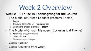 bible study of 1 thessalonians week 2