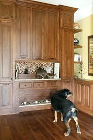 the shelf dog crate kitchen island high feeding station on the shelf above