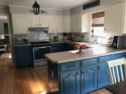 painting my kitchen cabinets blue painting kitchen cabinets with chalk paint by sloan
