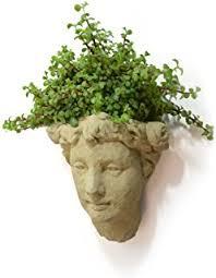 amazon com garden goddess outdoor head planter 17 inch fine