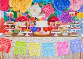 mexican baby shower colorful festive mexican baby shower dessert table with paper