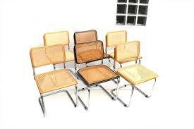 m chaises suite de 4 chaises cesca b32 de m breuer cartel de belleville