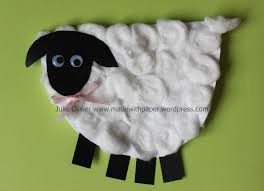 easter craft for kids sheep card made with paper