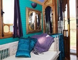adore the gold purple teal color scheme modern elegant vardo