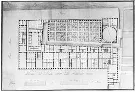 Palazzo Floor Plan G A Antolini Progetto Per Il Palazzo Reale Di Venezia 1806 Circa