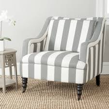 Striped Living Room Chair Overstock Homer Greyish Blue White Stripe Arm Chair