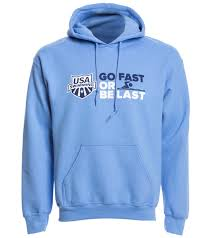 usa swimming unisex go fast or be last pullover hoodie at