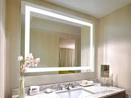 Illuminated Bathroom Wall Mirror Illuminated Bathroom Mirror Cabinet Battery Lighted Mirrors Light