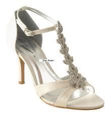 ivory satin wedding shoes ivory satin wedding bridal diamante sandals shoes