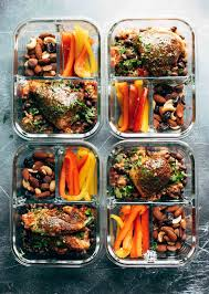 food prep meals spicy chicken meal prep with rice and beans recipe pinch of yum