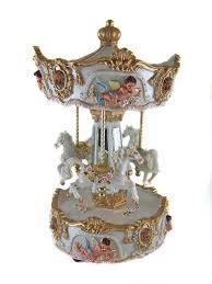 carousel box windup musical carousel