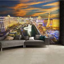 places and landmarks las vegas at night skyline wall mural 315cm x 232cm