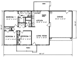 3 Bedroom Open Floor House Plans Ranch Style House Plan 3 Beds 2 Baths 1200 Sq Ft Plan 66 122