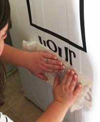 how to apply wall stickers peeling the transfer tape layer off a wall