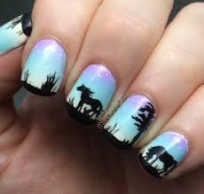 horse nail designs horse nails on gradient nail art