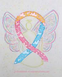 blue and yellow ribbon yellow pink blue clouds awareness ribbon meaning for cdh and gifts