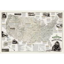 Geographic Map Of The United States by Railroad Legacy Of The United States Wall Map National