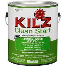 kilz clean start 1 gal latex primer sealer and stain blocker