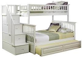 Solid Wood Bunk Beds With Storage Bedroom Bunk Columbia Staircase With Trundle