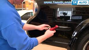 nissan maxima quarter panel how to replace install rear side marker light 2000 03 nissan