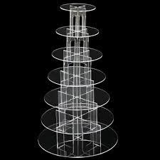 2017 top beyondfashion 7 tier round clear acrylic party wedding
