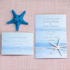 starfish wedding invitations cheap watercolor wedding invitation with starfish ewls053 as
