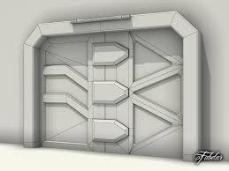 Futuristic Doors 3d Airlock Door Cgtrader