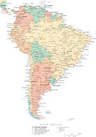 South America Satellite Map by South America South America Political Map