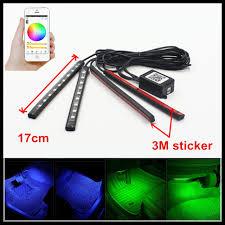 app controlled car lights fsylx 12v car auto smartphone app control rgb switchback led