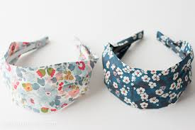 fabric headbands headband sewing pattern made from liberty of london fabric