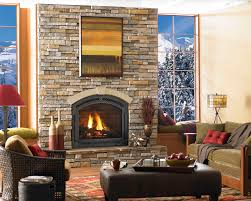living room captivating fireplace inserts and stacked stone with