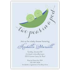 two peas in a pod baby shower two peas in the pod blue baby shower invitations paperstyle
