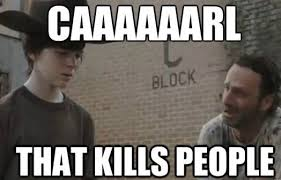Walking Dead Rick Crying Meme - carl know your meme