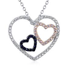 double hearts necklace images Double hearts 925 sterling silver necklace vanika jewelry jpg