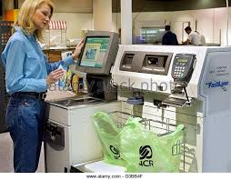 Supermarket Cash Desk Self Checkout Cash Stock Photos U0026 Self Checkout Cash Stock Images