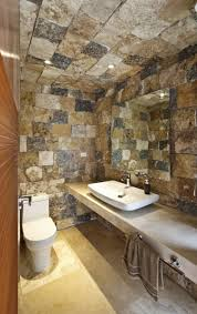 bathroom rustic bathroom decor with wooden wall and wooden like