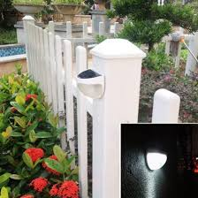 Outdoor Solar Lights For Fence Set Of 4 Brown Mini Solar Fence Lights Llust Http Www